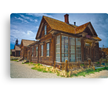 Bodie CA Our House In The Middle Of our Street Canvas Print