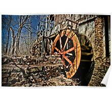 The John Wesley Hall Grist Mill Poster