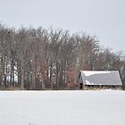 Wintry barn scene by mltrue