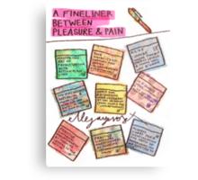 Pregnancy: Fineliner between Pleasure & Pain Metal Print