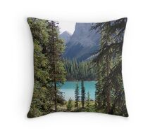 Once again, Maligne Throw Pillow
