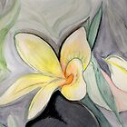 A Tropical Flower- Frangipani by Anne Gitto