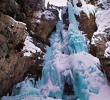 Upper falls (Johnston canyon) by David Geoffrey Gosling (Dave Gosling)