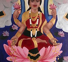 Lakshmi - Goddess of Wealth and Beauty by Erin Dean Colcord