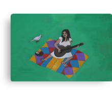 El Picnic Del Cantante  Canvas Print