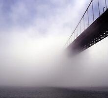 Golden Gate Bridge Drowning In Fog by Svetlana Day