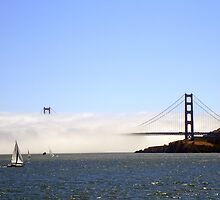 Golden Gate Bridge Under A Fog Blanket by Svetlana Day