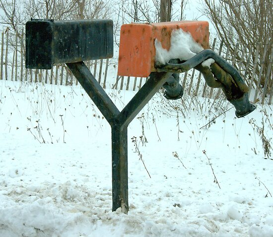 Exhausting Mail..... Those damn flyers... by Larry Llewellyn