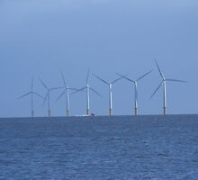 Wind Turbines, Clacton. by dustyparasol