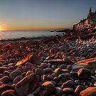 Sunrise at Rocky Beach, Acadia NP, ME by Oscar Gutierrez