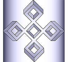 Lavender Cross Photographic Print