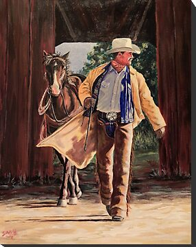 Cowboy Sunrise by Susan Bergstrom