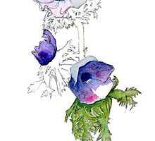 Anemones 1 by reddogcards