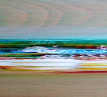 """Landscape-Series"", 2010, Oil/Wood, 20 x 40 cm by Christian v. Grumbkow"
