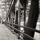 Chicago Bridge in black and white by Patrick  Warneka