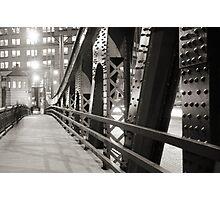 Chicago Bridge in black and white Photographic Print