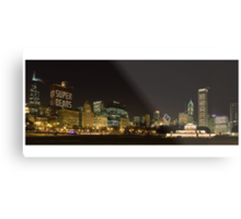 Chicago Bears  in the Chicago Skyline Metal Print