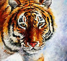 Tiger - original oil painting on canvas by Leonid Afremov by Leonid  Afremov