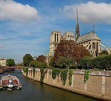 Notre Dame de Paris Along The River Seine by Lanis Rossi