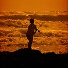 Mitimiti surfcasting. by Lynne Haselden