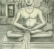 Yoga, Immitated the king Jayavarman VII image.  by Mahindra