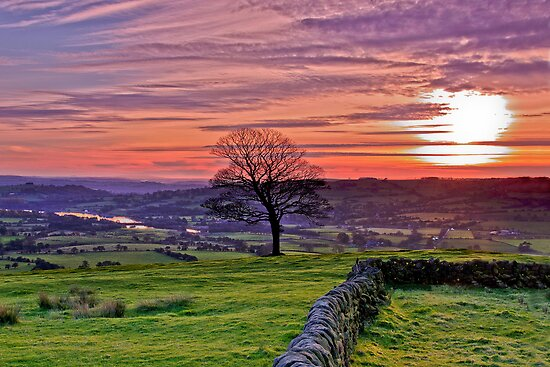 Sunset from The Roaches by James  Key