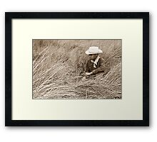 Young Cowboy in the Dunes Framed Print