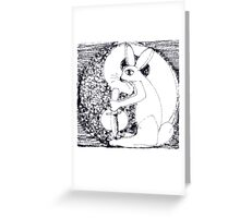 Metal Dagger Rabbit by the Light of the Yin Yang Moon Greeting Card