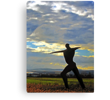 The Wicker Man, otherwise known as The Willow Man of Somerset Canvas Print
