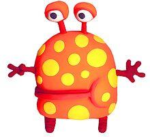 polka dot monster by claygirrl