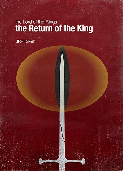 """The Return of the King"" - minimalist poster design by J PH"