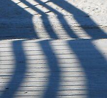 Shadows on white sand by richalfa156
