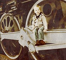 Little Boys and Trains by indeannajones