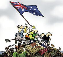 Aussies triumph over floods by Broelman