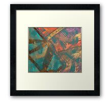Turquoise Abstract  Framed Print