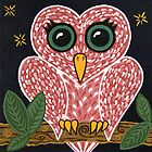 'Owl Heart'  by Lisa Frances Judd ~ Original Australian Art