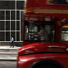 Bus and pedestrian by markmccall