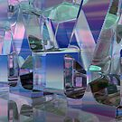 Refraction In Blue by Hugh Fathers