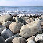 Irish pebble shore by morrbyte