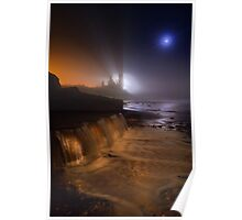 Reculver Towers through the mist Poster