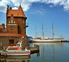 MVP64 Stralsund Harbour & Gorch Fock l, Germany. by David A. L. Davies