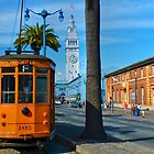Old San Francisco Cable Car And Ferry Building by Svetlana Day