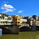 Sunny Ponte Vecchio In Florence by April Anderson