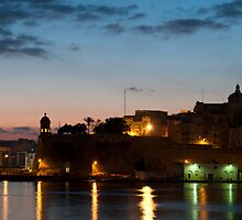 Senglea in the morning by Robert Mifsud