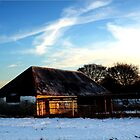 Snowy Farmhouse - Angmering, East Sussex by Daniel Warner-Meanwell