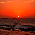 Treyarnon Sunset - Cornwall by Daniel Warner-Meanwell