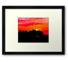 Sundown Drive-by Framed Print