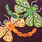 'Dragonflies Play'  - Quirky Happy Art by Lisa Frances Judd ~ QuirkyHappyArt