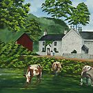 Milldale In Staffordshire by Charlotte  Blanchard