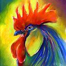 Vibrant Rooster Painting Svetlana Novikova by Svetlana  Novikova
